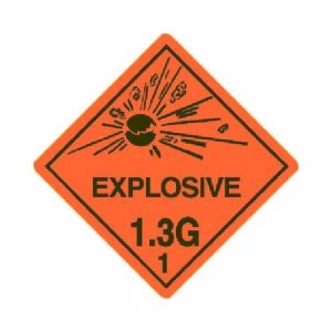 1.3G Explosive DOT Label ( Roll of 10 )