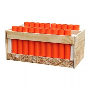 "20 Shot Rack - Straight - with 12"" DR-11 Mortars"
