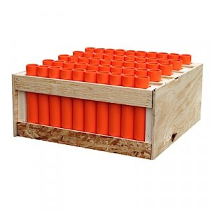 "50 Shot Rack - Straight - with 12"" DR-11 Mortars"