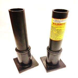 "1.91"" x 12"" Black HDPE Mortar Tube w/Base"