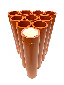 "1.91"" x 12"" Orange HDPE DR11 Mortar Tube - Case of 50"