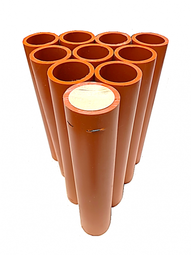"1.91"" x 12"" Orange HDPE DR11 Mortar Tube"
